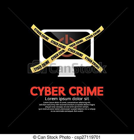 Clipart Vector of Cyber Crime hacking and phishing Banners.