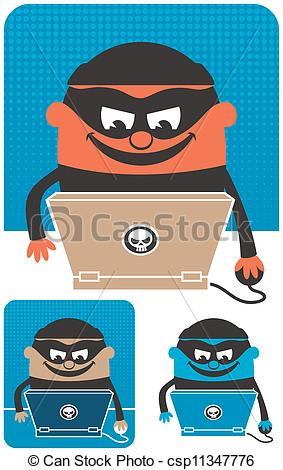 Vectors Illustration of Computer Crime.