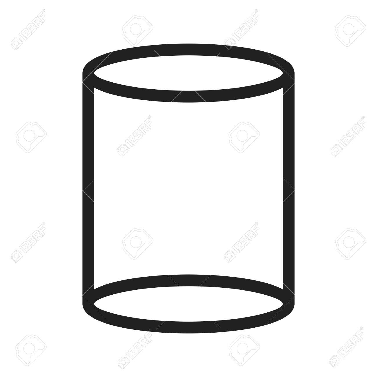 Cylinder, 3d, diagram icon vector image. Can also be used for...