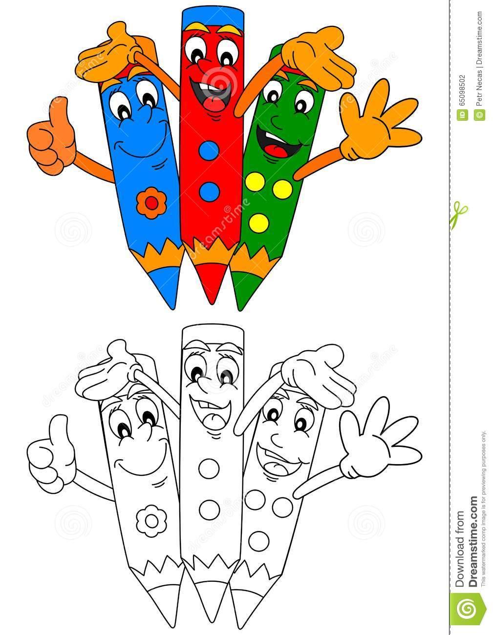 Clipart Da Colorare Per Bambini.