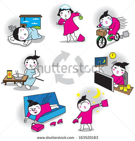 Daily Life Stock Vectors, Images & Vector Art.