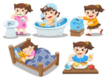 524 Kids Daily Routine Cliparts, Stock Vector And Royalty Free Kids.