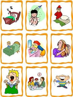 daily routine clipart free.