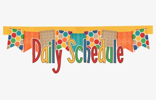 Free Daily Schedule Clip Art with No Background.