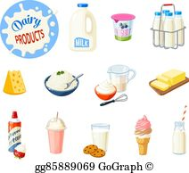 Dairy Products Clip Art.