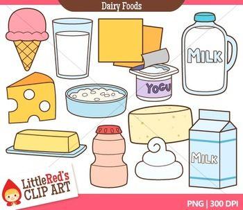 Dairy Foods Clip Art.