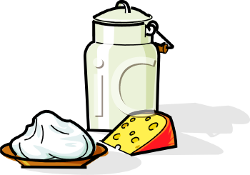 Royalty Free Clip Art Image: Dairy Foods.