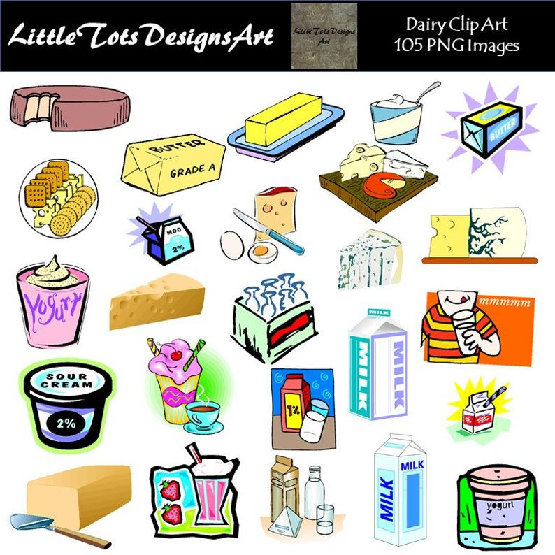 Dairy Foods Clip Art Clipart.