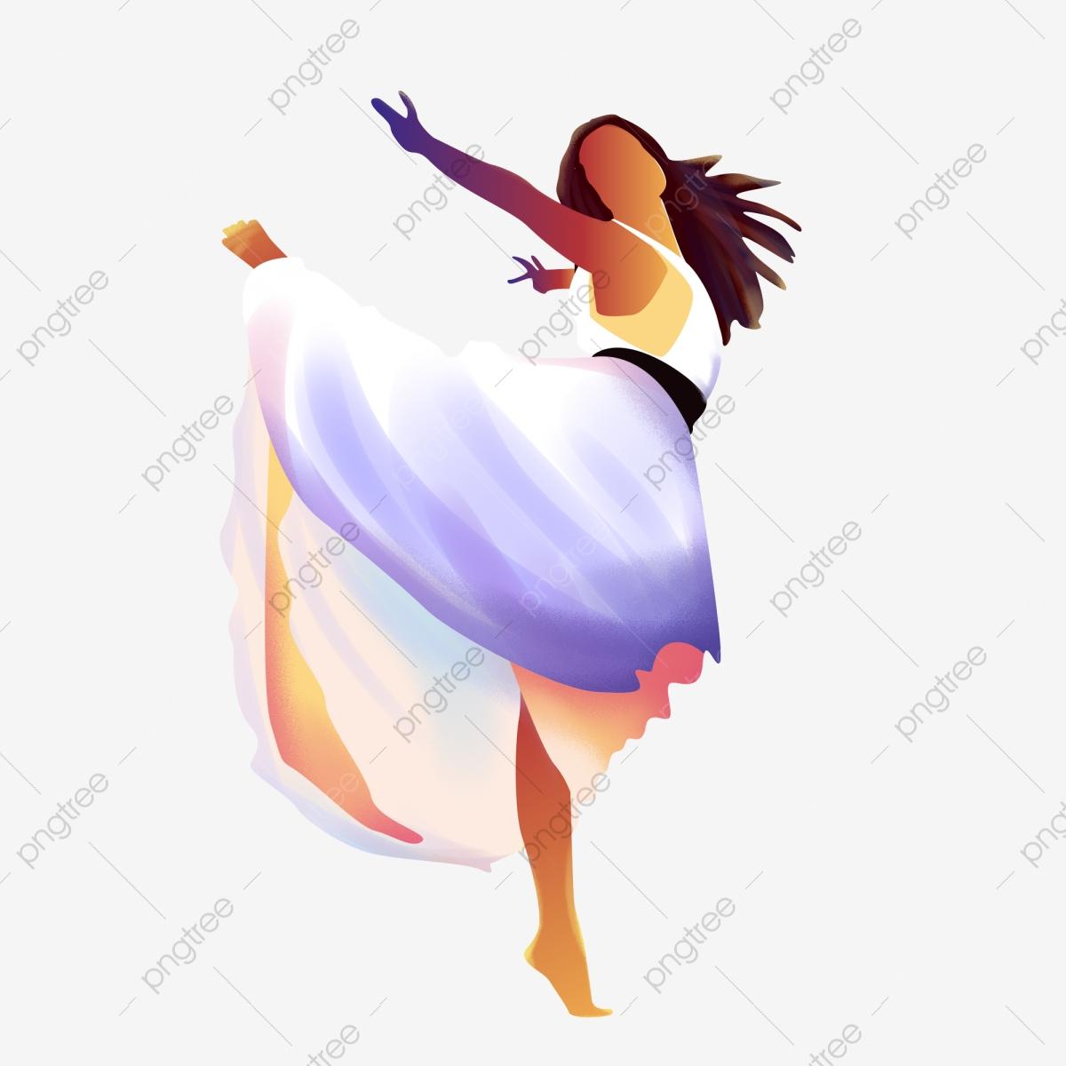 Dancing Figures Color Ink, Dancing Clipart, Color Clipart, Dancing.