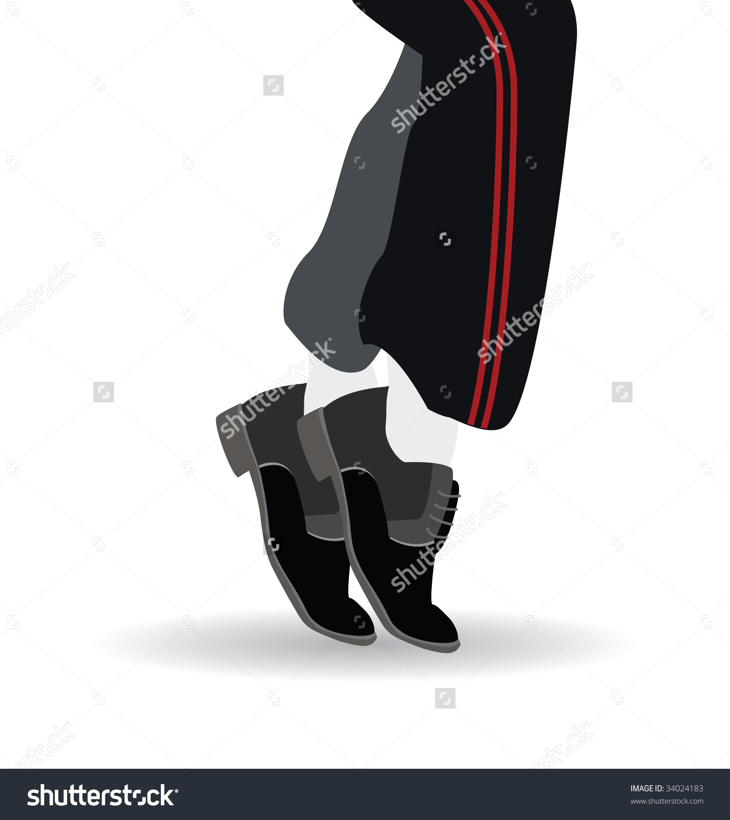 Dancing Feet Stock Vector 34024183.