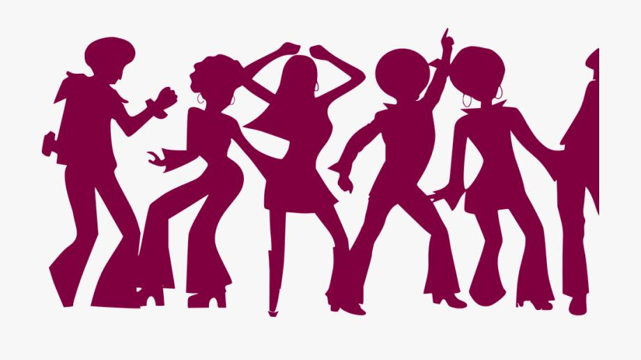 Dance People Violet Dancing Party Disco Sixties.
