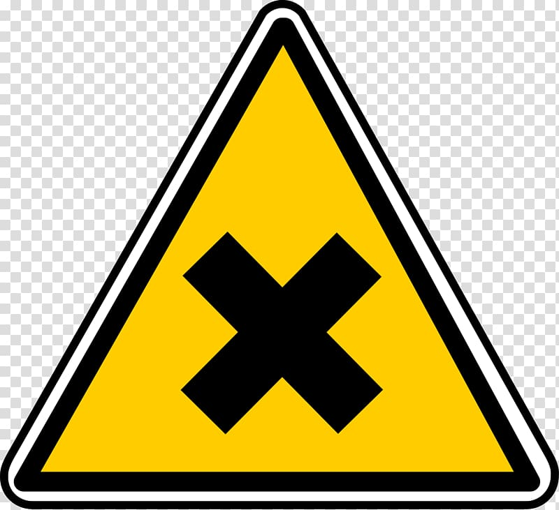 Hazard symbol Warning sign, danger transparent background.