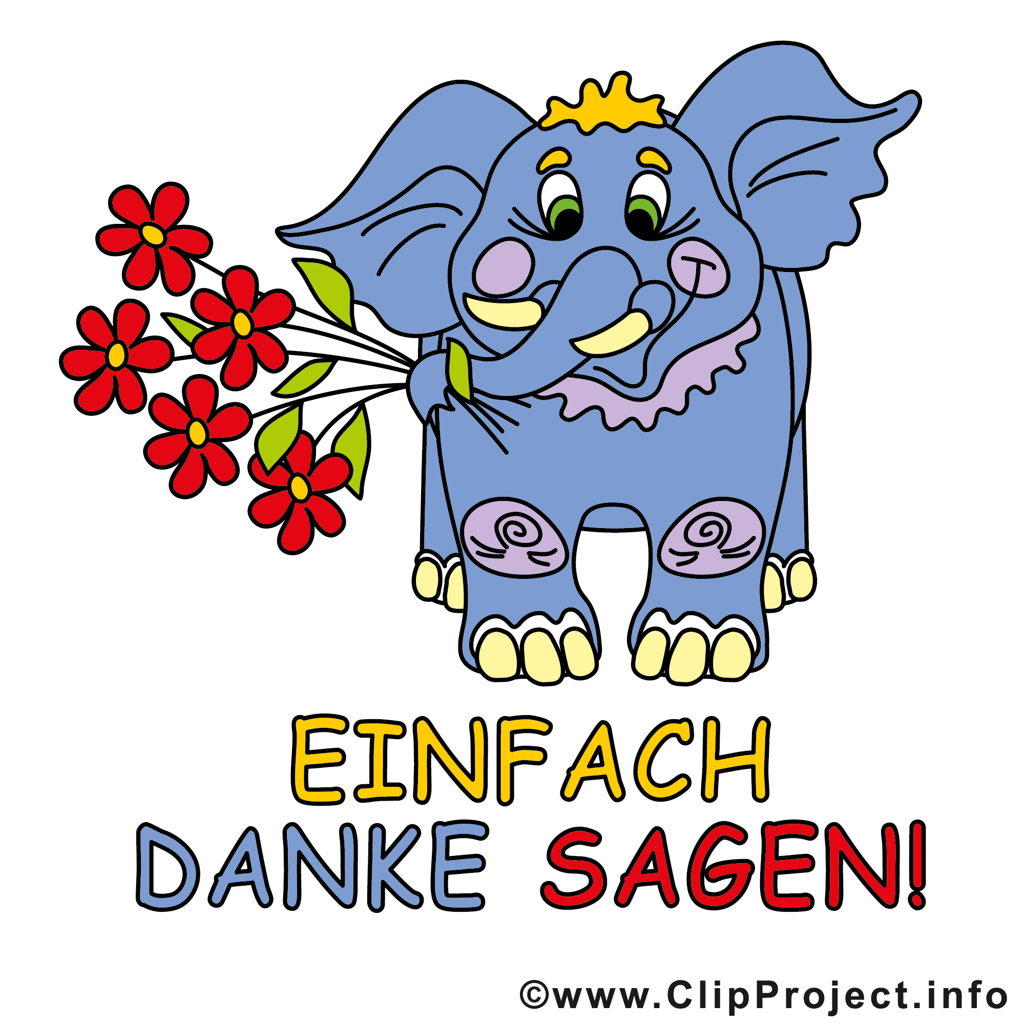 Clipart Danke Sagen.