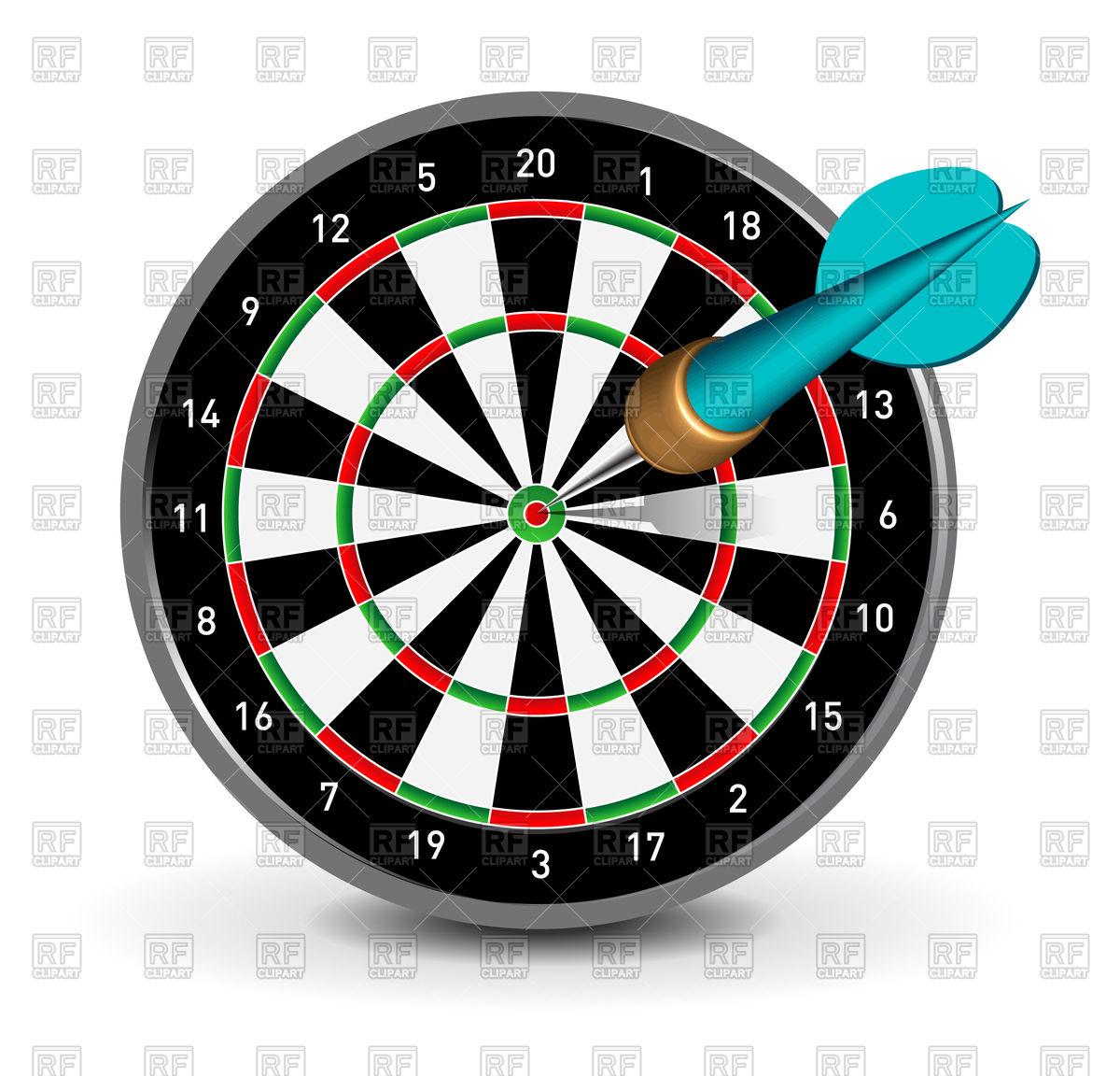 Dartboard with dart Stock Vector Image.