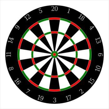 Free dartboard Clipart.