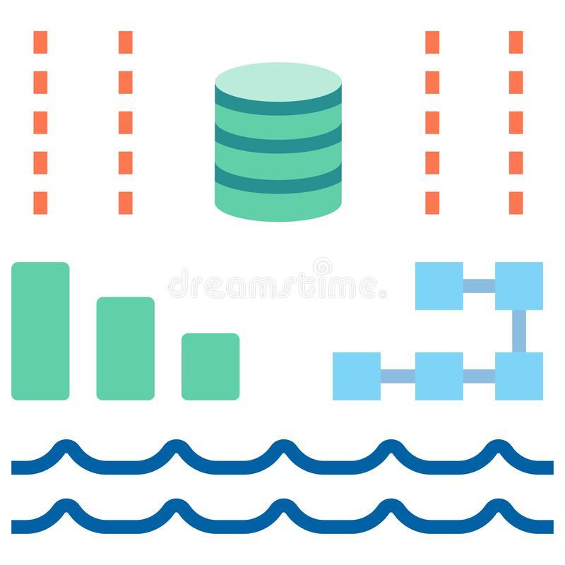 Data Lake Stock Illustrations.