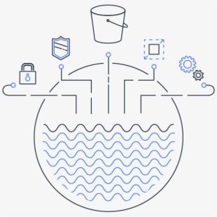 Data Lake Storage Infrastructure , Transparent Cartoon, Free.
