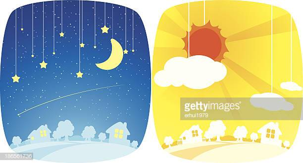 46 Day And Night Stock Illustrations, Clip art, Cartoons & Icons.