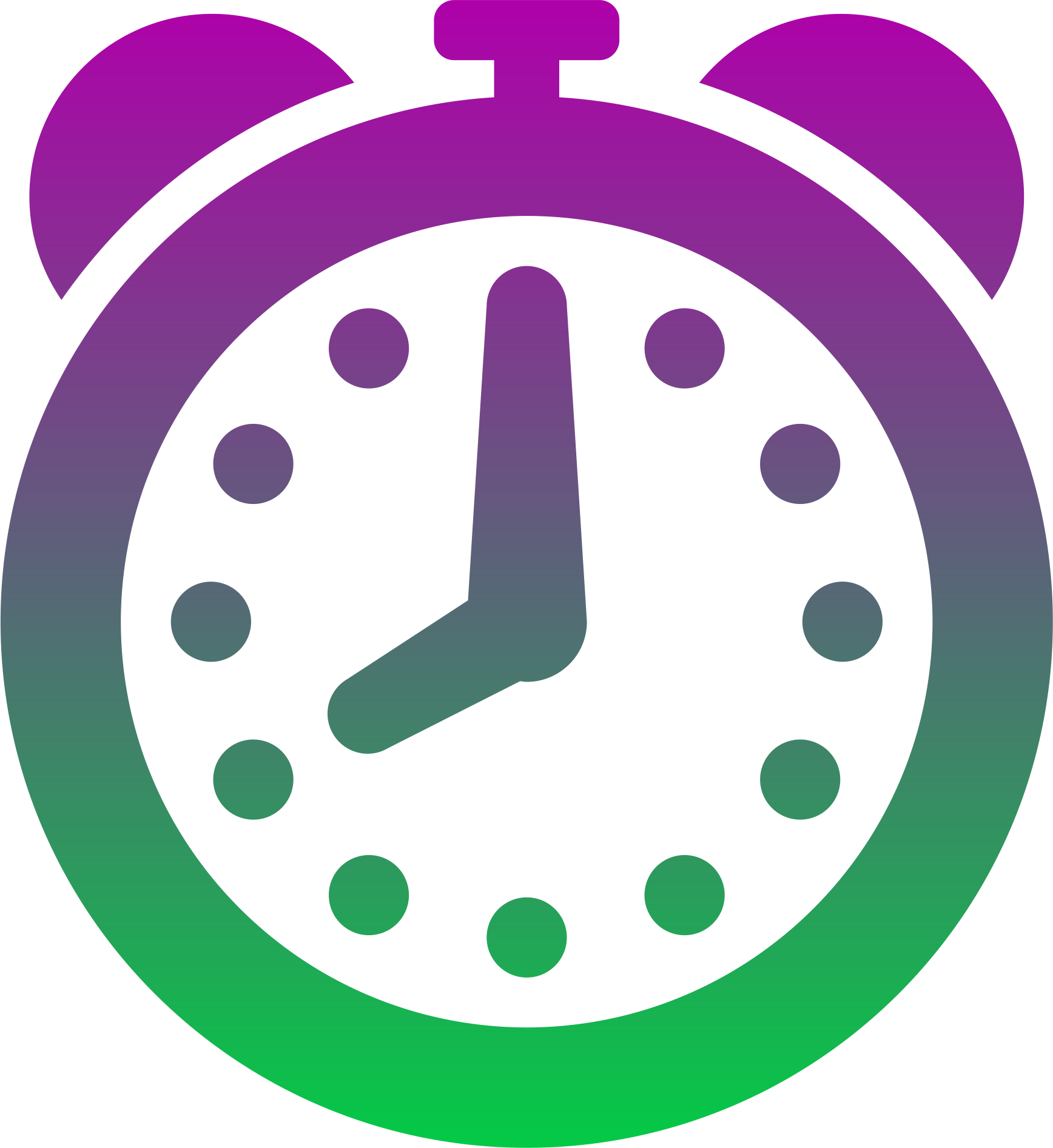 HD Coloured Clock Icons Png.
