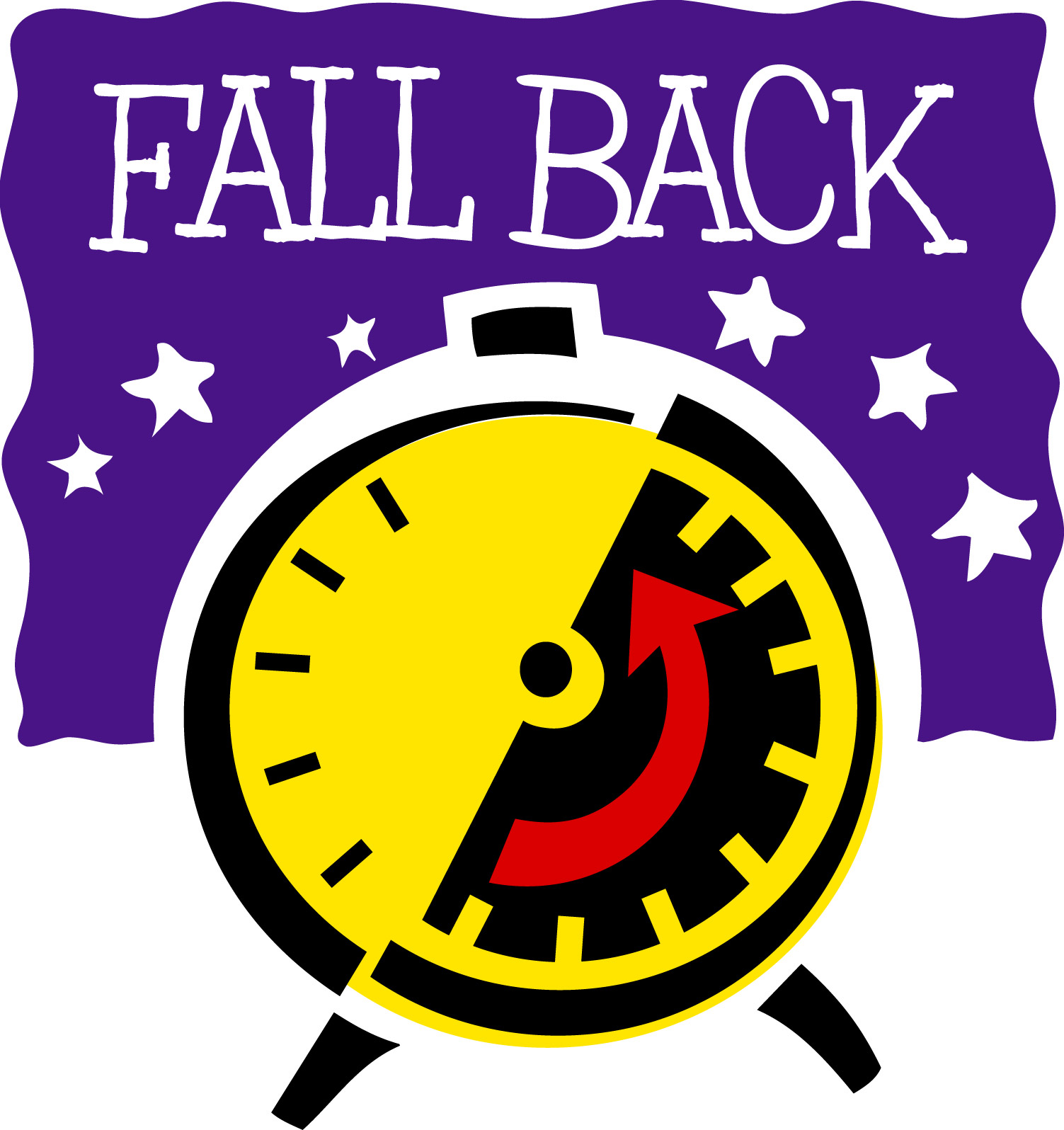 Daylight Savings Time Ends Clipart.