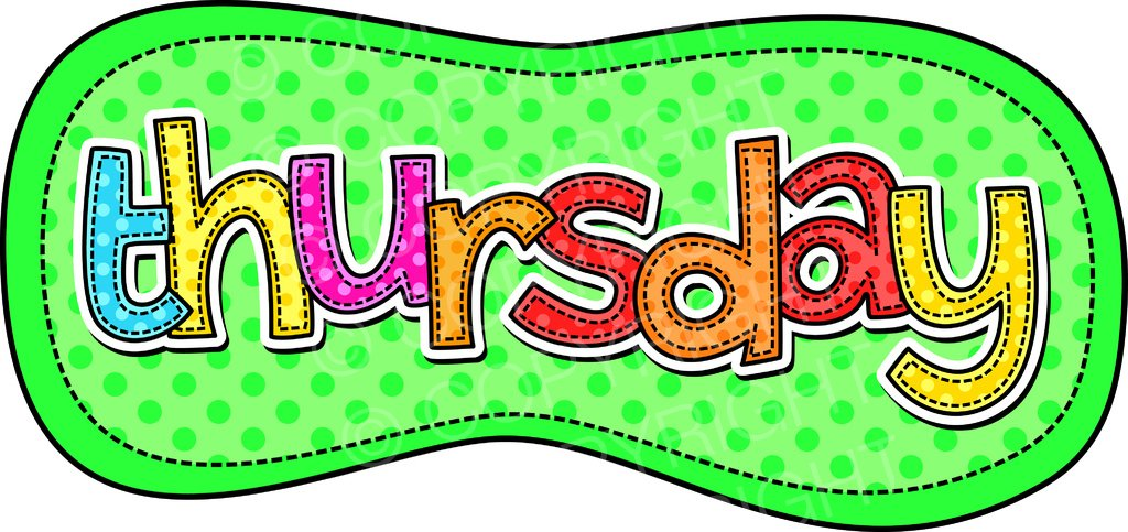 Days of the week clipart 3 » Clipart Station.