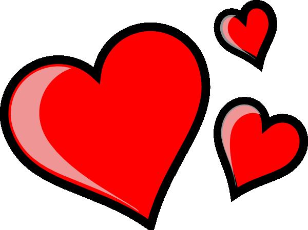 Three Hearts Clip Art at Clker.com.