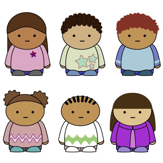 Dibujo simple de niños.