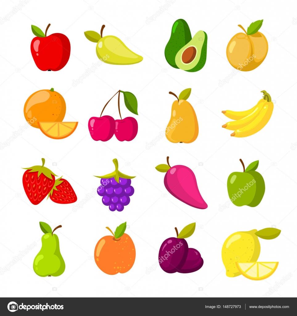 Imágenes: clipart de frutas.