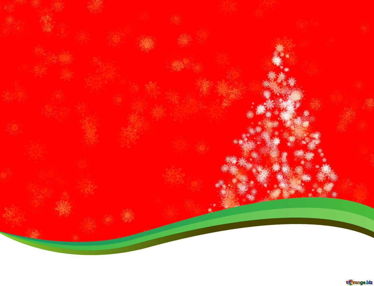 Descargar foto gratis Los copos de nieve y árbol de Navidad.
