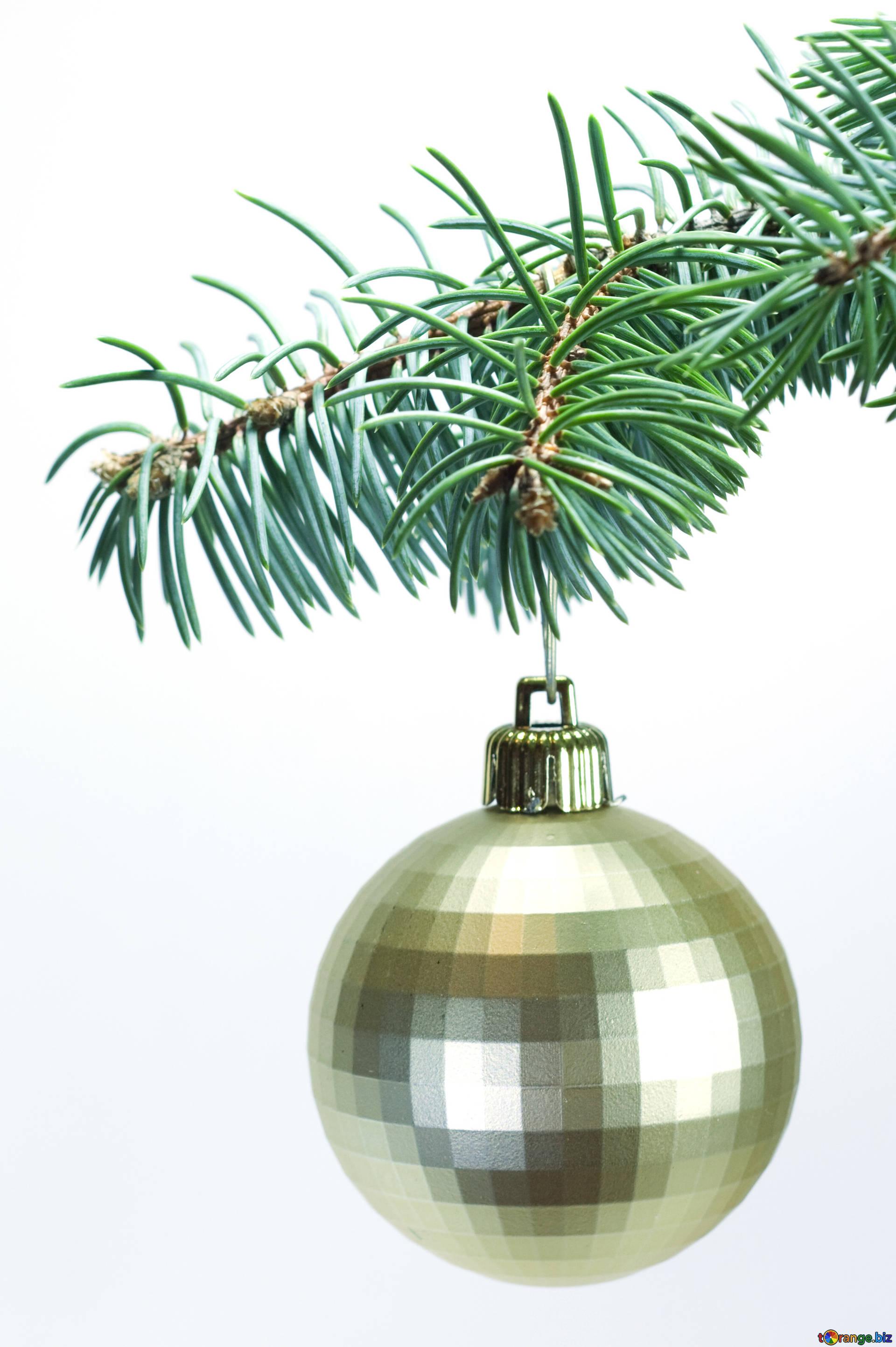 Árbol de navidad la navidad bola en árbol. clipart № 6787.