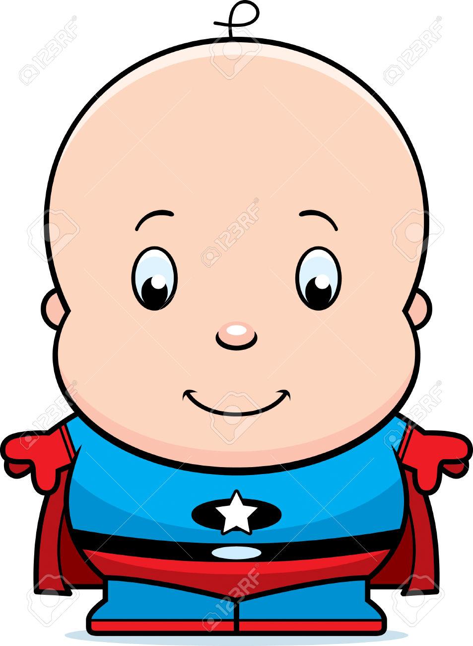 Una Ilustración De Dibujos Animados De Un Superhéroe Bebé En.
