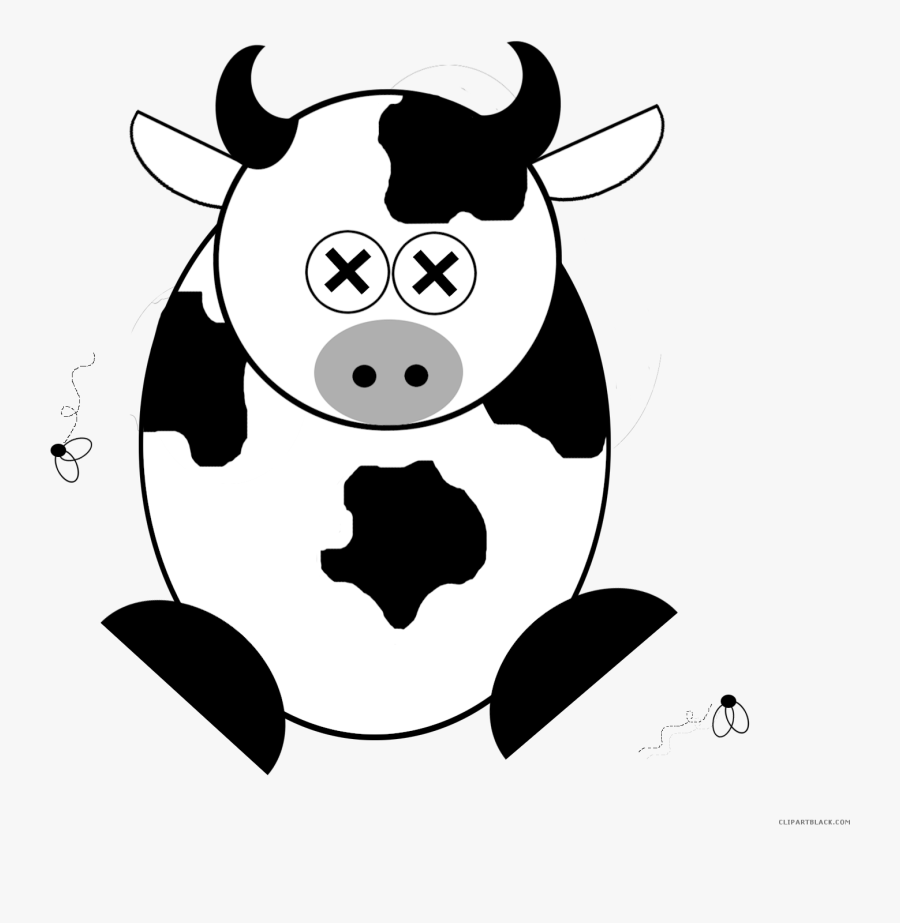 Cartoon Cow Animal Free Black White Clipart Images.