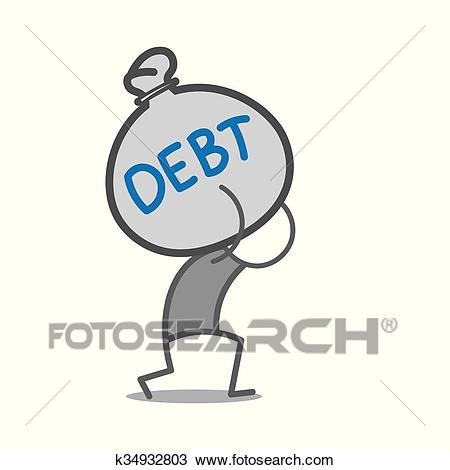 Debt Clipart.