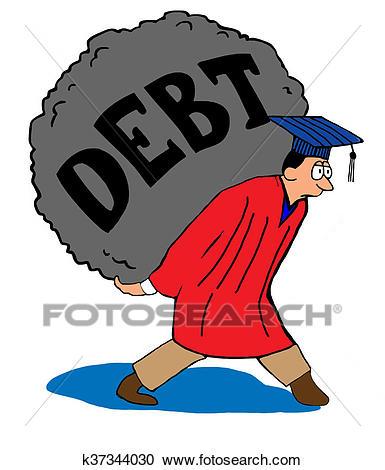 Graduate Debt Load Clipart.