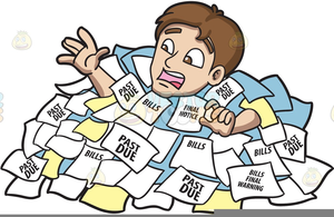 Drowning In Debt Clipart.