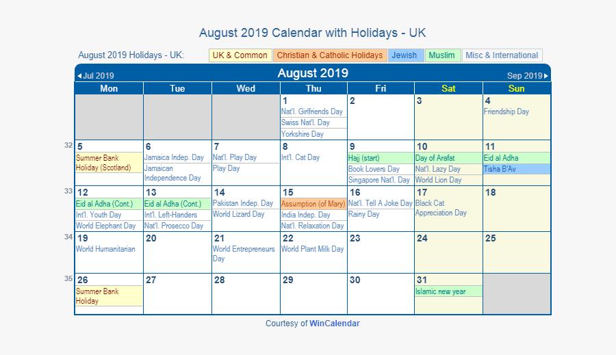 Transparent Holiday Calendar Clipart.