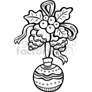 Christmas decorations clipart. Royalty.
