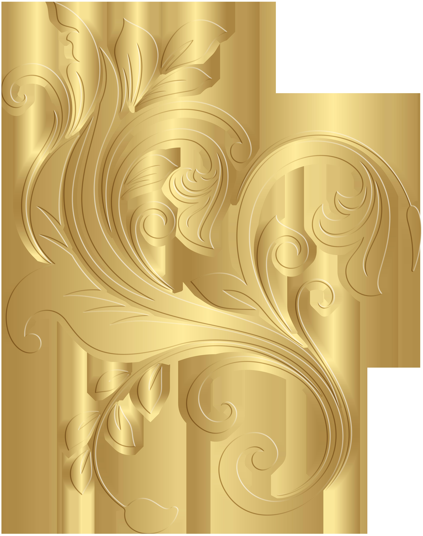 Gold Decorative Element PNG Clip Art Image.