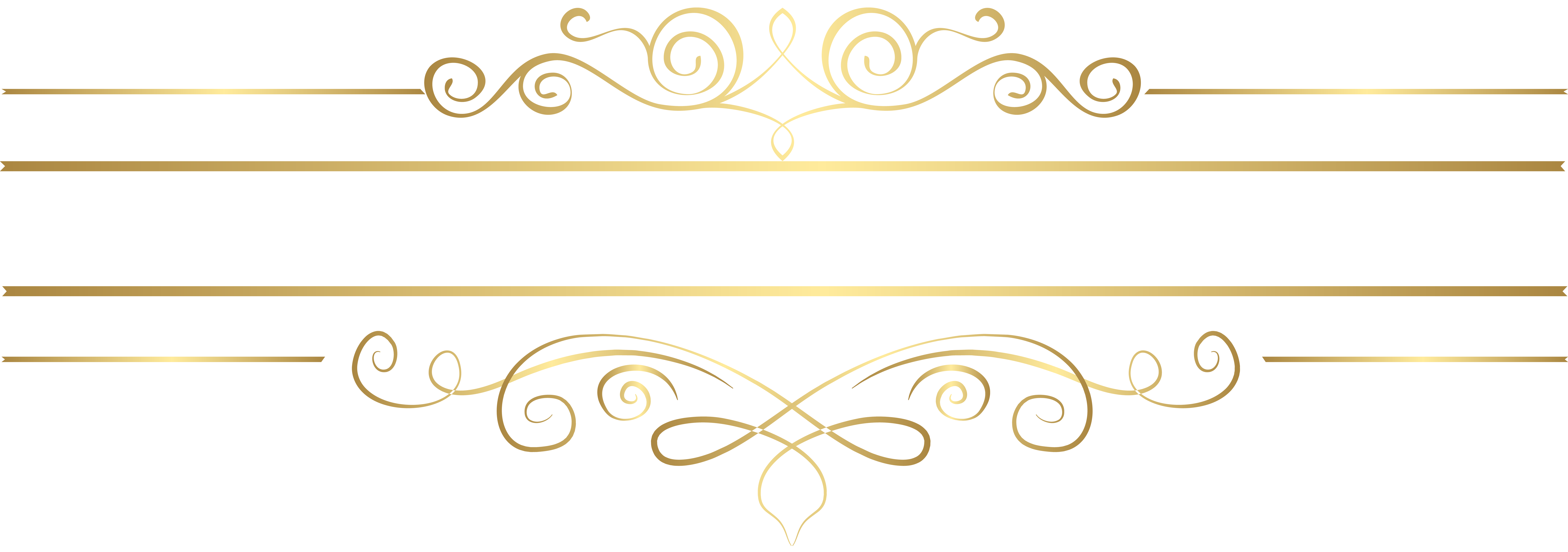 Gold Decorative Element Transparent Clip Art.