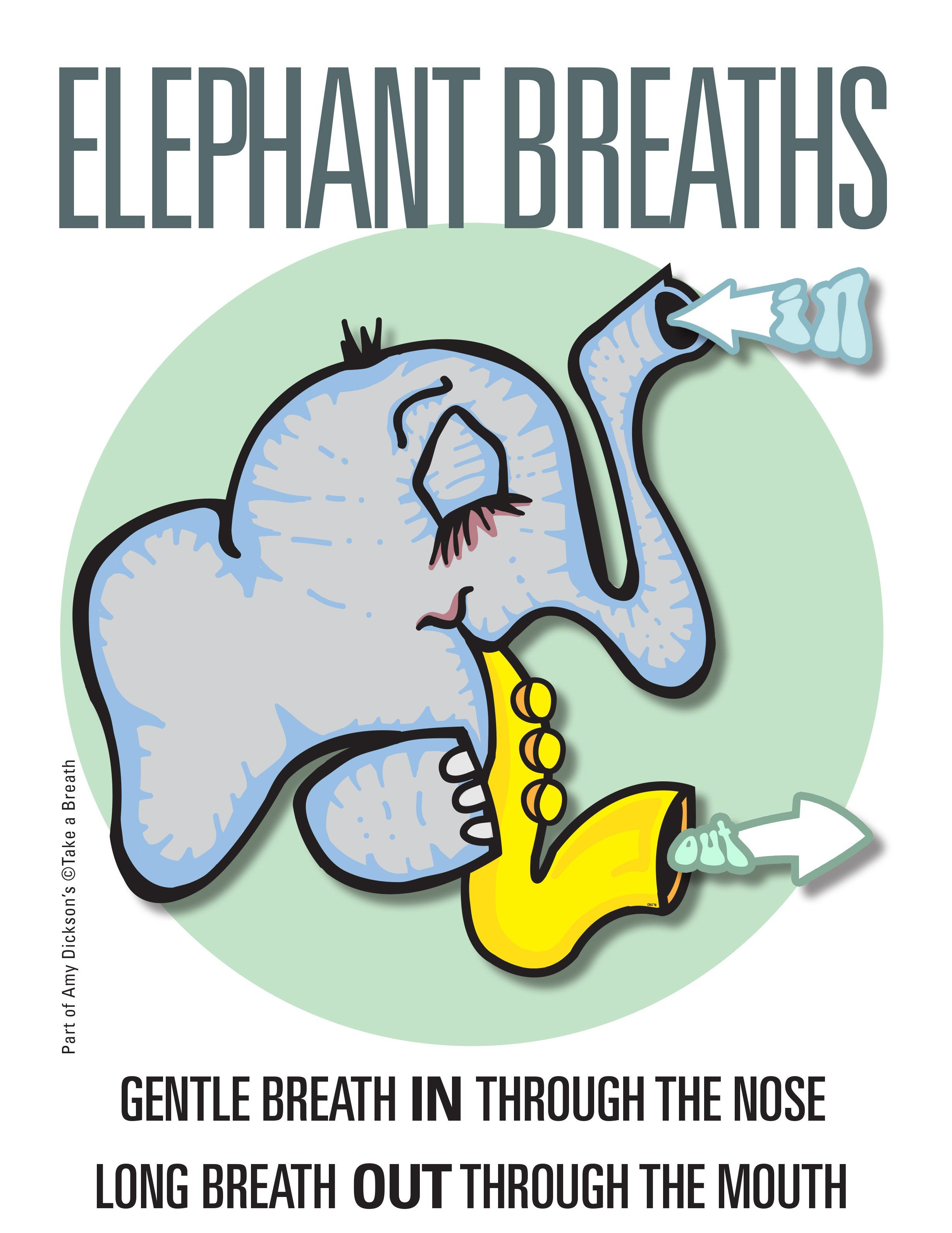 Image result for clipart child deep breathing.