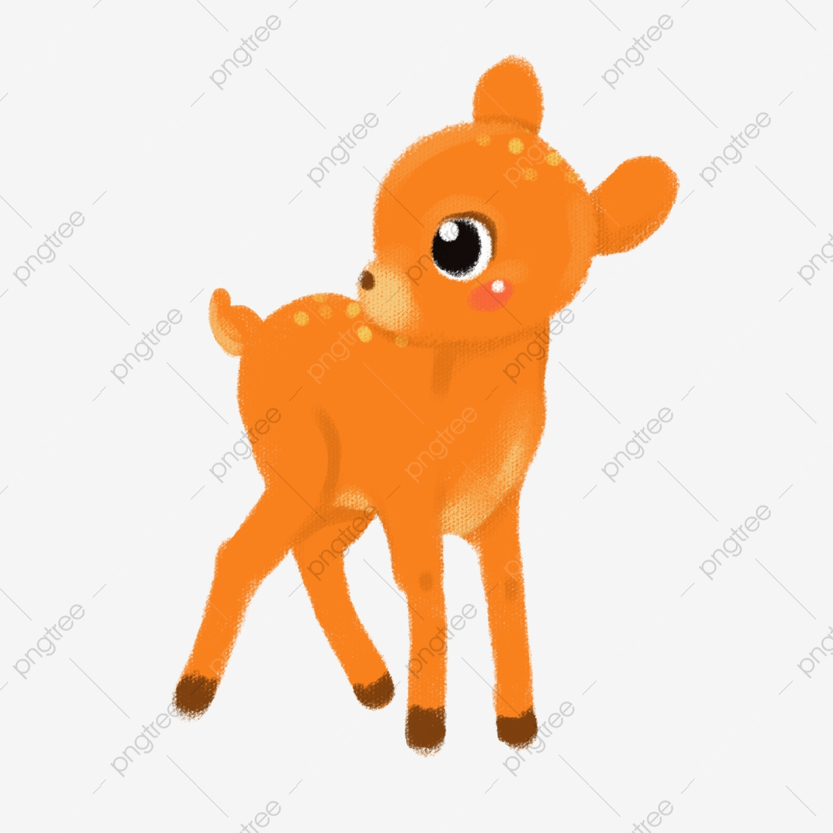 Hand Painted Baby Clothes Deer Pattern, Baby Clipart, Clothes.