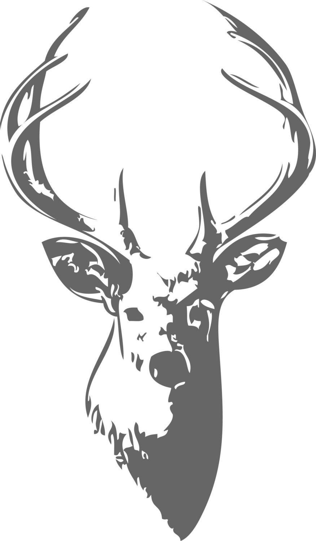 Deer head art clipart.