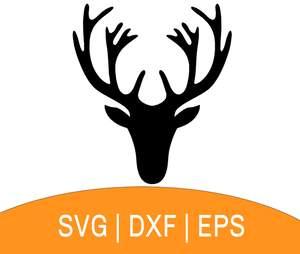 Deer Head SVG.