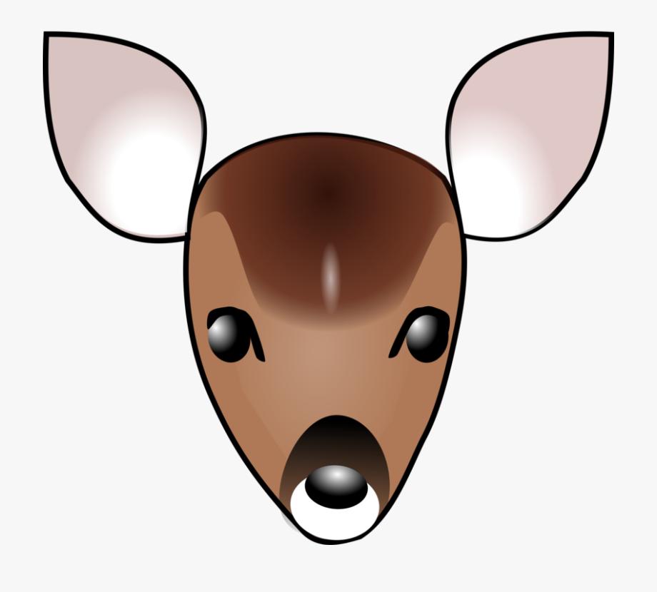 Deer Head Clip Art Free Svg Vector.