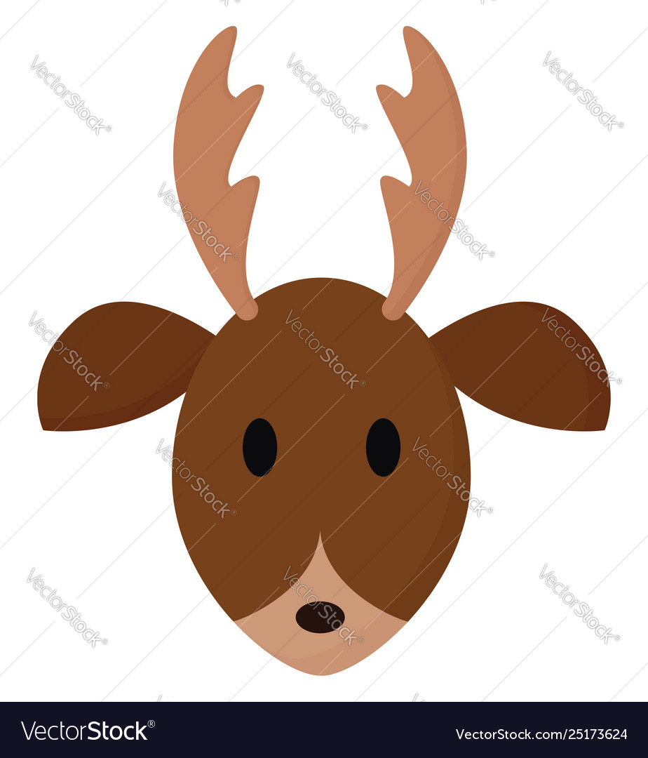 Clipart face a deer or color.