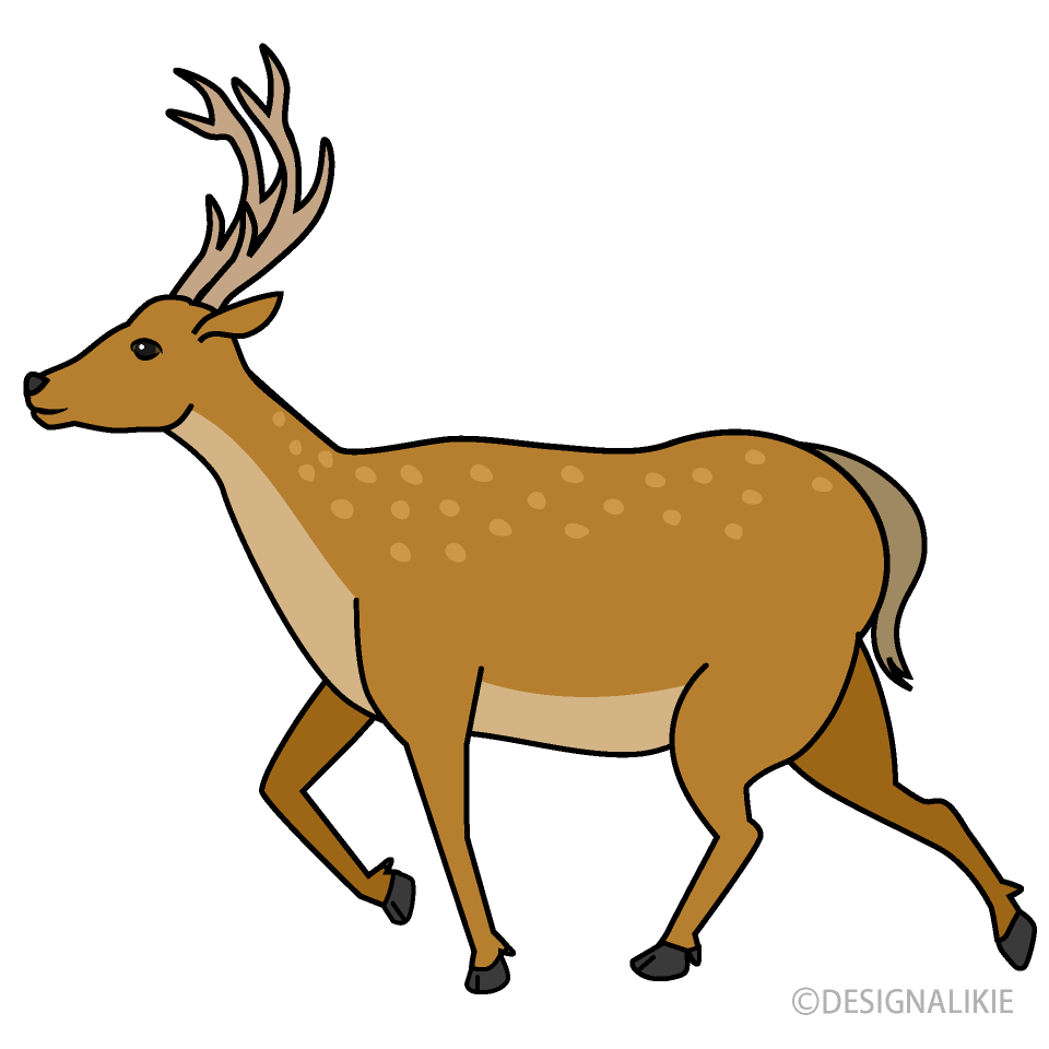Free Running Deer Clipart Image|Illustoon.