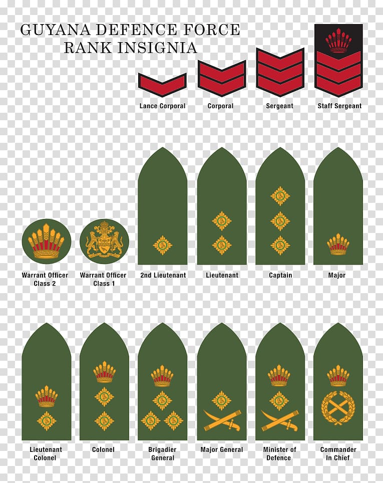 Military rank Guyana Defence Force United States Army.