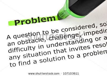 Definition Word Problem Highlighted Green Marker Stock Photo.