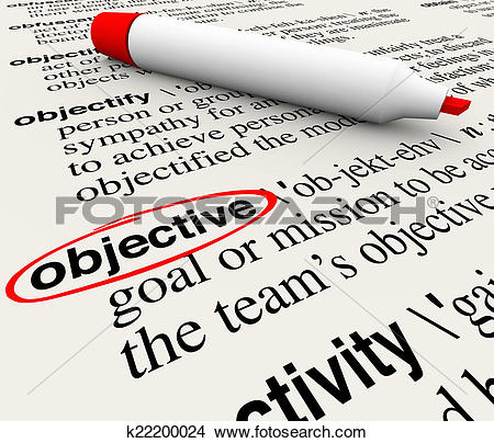 Stock Photo of Objective Mission Goal Dictionary Word Definition.