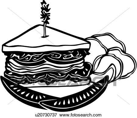 , deli, food, restaurant, sandwich, Clip Art.